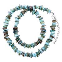 Necklaces - chip stone necklaces colorful blue brown genuine stone chips necklace Image.