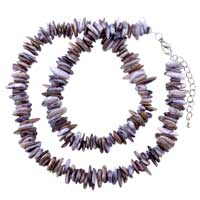 Necklaces - chip stone necklaces colorful amethyst brown genuine stone chips necklace Image.