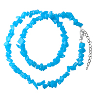 Necklaces - chip stone necklaces blue topaz genuine aragonite stone chips necklace Image.