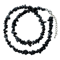 Necklaces - black onyx chip stone necklaces aragonite stone chips necklace pendant Image.