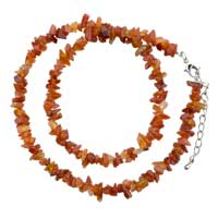 Necklaces - tiger eyes chip stone necklaces mookaite aragonite stone chips necklace Image.
