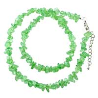 Necklaces - green aventurine chip stone necklaces genuine chip stone necklace Image.