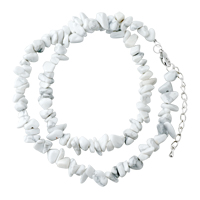 Necklaces - chip stone necklaces ivory white genuine aragonite stone chips necklace Image.