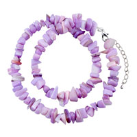 Necklaces - chip stone necklaces amethyst purple genuine aragonite stone chips necklace Image.