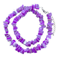 Necklaces - chip stone necklaces deep purple genuine chip stone necklace Image.