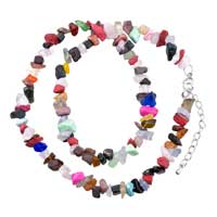 Necklace & Pendants - chip stone necklaces colorful dazzling genuine aragonite stone chips necklace Image.