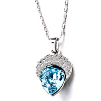 Necklaces - december birthstone heart shaped pendant necklace Image.