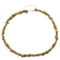 Necklace & Pendants - chip stone necklaces genuine gemstone nugget chips stretch tiger eye necklaces Image.