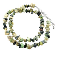 Necklace & Pendants - chip stone necklaces genuine multi gemstone nugget chips stretch bead jackets necklace Image.