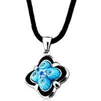 Necklaces - cute blue millefiori murano glass pendant necklace Image.
