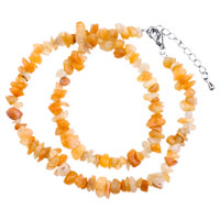 Necklace & Pendants - carnelian chip stone necklaces gemstone nugget chips stretch necklace for women Image.