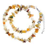 Necklace & Pendants - chip stone necklaces colorful genuine unique semi precious gemstone nugget chips stretch necklace Image.