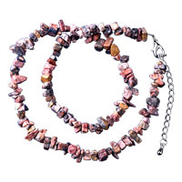 Necklace & Pendants - chip stone necklaces genuine lifelike semi precious gemstone nugget chips stretch necklace Image.
