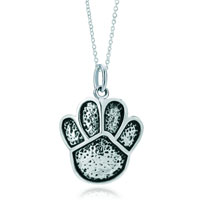 Sterling Silver Jewelry - sterling silver cute bear animal claw link charms pendant necklace sterling silver pendant Image.