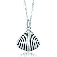 Necklace & Pendants - 925  sterling silver cute shell link charm charms bracelet &  pendant necklace sterling silver pendant Image.