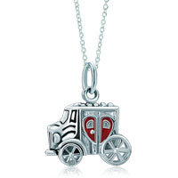Necklace & Pendants - 925  sterling silver red heart love little car link charm for charms bracelet &  pendant necklace sterling silver pendant Image.