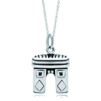 Necklace & Pendants - 925  sterling silver paris triumphal arch link charm for charms bracelet &  pendant necklace sterling silver pendant Image.
