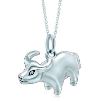 Necklace & Pendants - 925  sterling silver cute taurus horoscope zodiac sign link charm for charms bracelet &  pendant necklace zodiac pendant Image.