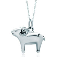 Necklace & Pendants - 925  sterling silver aries horoscope zodiac sign link charm for charms bracelet &  pendant necklace zodiac pendant Image.