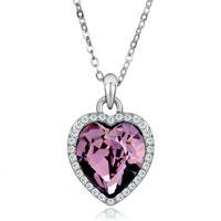 Necklace & Pendants - beautiful february birthstone purple swarovski crystal heart gift pendant necklace for women Image.