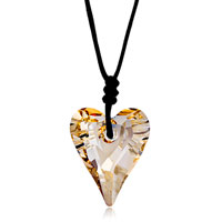 Necklace & Pendants - classic november birthstone light color topaz crystal heart pendant gift Image.