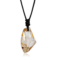Necklace & Pendants - november birthstone light color topaz crystal galactic drop focal pendant gift Image.