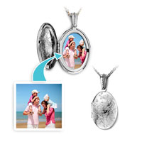 Items from KS - silver oval flower classic pendant necklace beads charms bracelets Image.