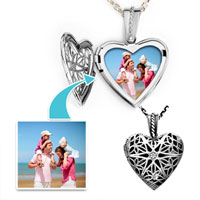 Items from KS - silver heart sterling pendants pendant jewelry gift beads charms bracelets Image.