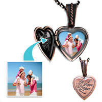 Items from KS - copper color heart rose i love pendant pendants beads charms bracelets Image.