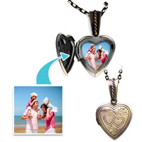 Items from KS - small heart double pendant beads charms bracelets Image.