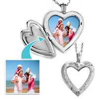 Items from KS - classic heart shaped sterling silver wedding pendant necklaces jewelry gift beads charms bracelets Image.