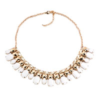 Necklace & Pendants - statement necklace golden tone clear jaspery party ball pendant Image.