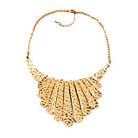 Necklaces - statement necklace golden chain jewelry party ball fashion pendant Image.