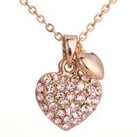 Necklace & Pendants - golden crystal heart little pendant Image.