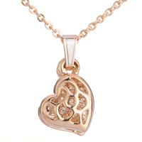 Necklace & Pendants - golden hollow heart pendant Image.