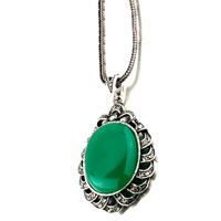 Necklace & Pendants - womens may green waterdrop crystal murano glass turquoise necklace pendant Image.