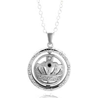 Necklace & Pendants - mothers day gifts silver circle king crown decorative pattern pendant necklace Image.