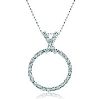 Necklace & Pendants - karma necklaces silver circle letter x crystal pendant necklace christmas Image.
