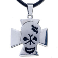 Man's Jewelry - men jewelry celtic cross halloween skull stainless steel necklaces pendant for men Image.