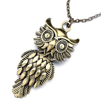 Necklace & Pendants - mothers day gifts vintage lovely owl ovals on belly pendant Image.