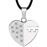 Necklace & Pendants - stainless steel key to my heart love pendant necklace for women Image.