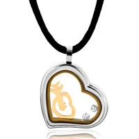 Necklace & Pendants - gold diamond accent triple open heart pendant necklace Image.