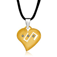 Necklace & Pendants - gold plated symbol on my heart love pendant necklace Image.