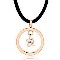 Necklace & Pendants - karma dangle hoop clear white cube crystal cz pendant necklace earrings Image.