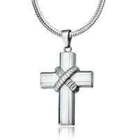 Necklace & Pendants - cross necklaces silver celtic criss cross pendant necklace Image.