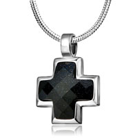 Necklace & Pendants - cross necklaces for men black cross necklace murano glass pendant Image.
