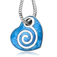 Necklace & Pendants - blue heart mother pearl pendant necklace for women Image.