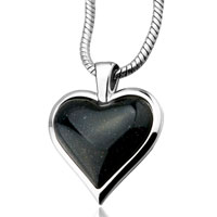 Necklace & Pendants - black heart shine pendant necklace for women Image.