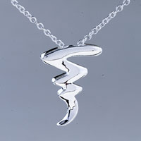Sterling Silver Jewelry - wave sterling silver pendant necklace gifts for women earrings Image.