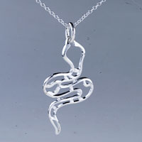 Gifts Center - necklace snake sterling silver pendant necklace gifts for women earrings Image.
